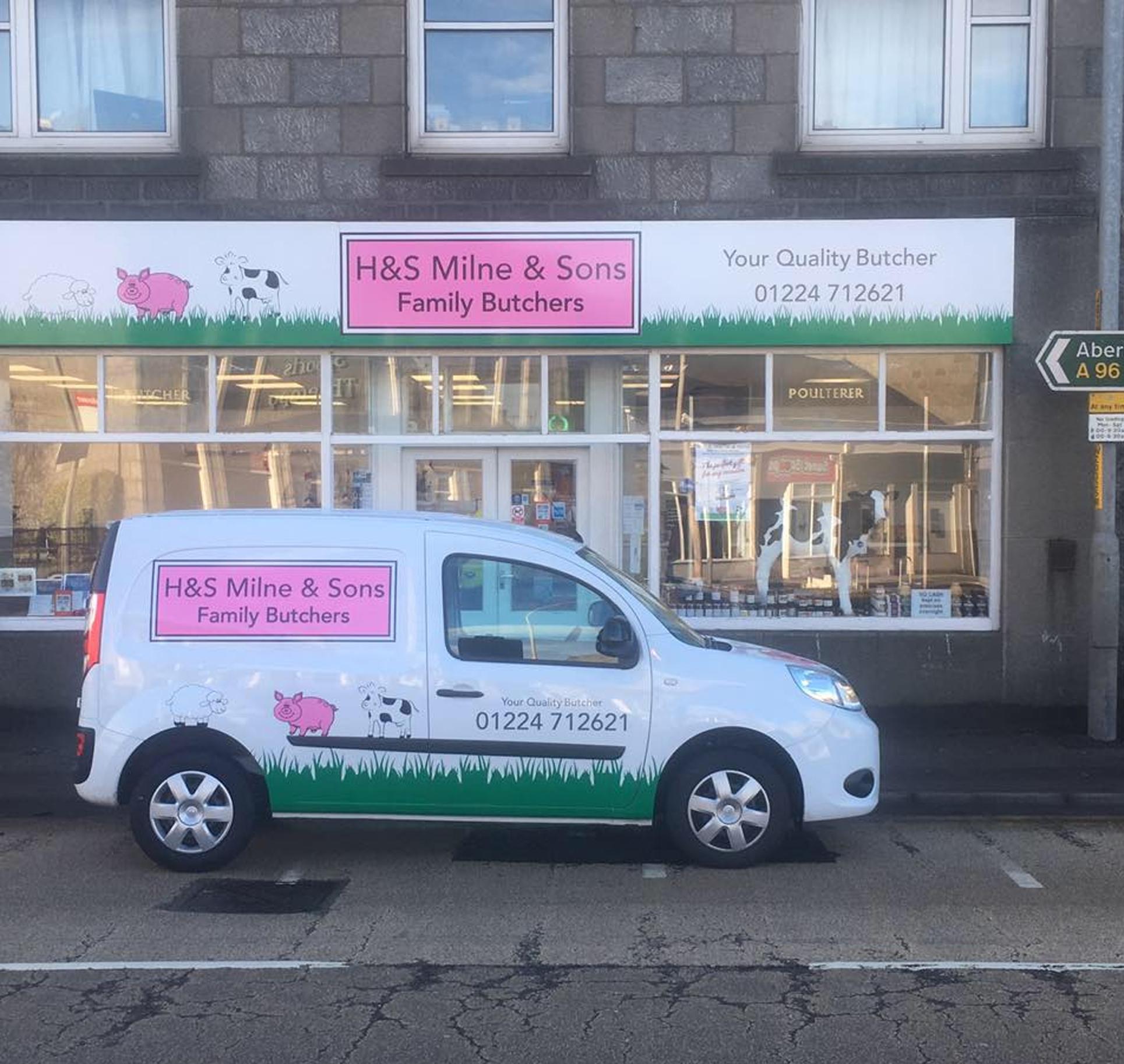 butchers shop and van